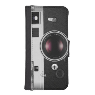 Funny Vintage Camera Look iPhone 5 Wallet Cases