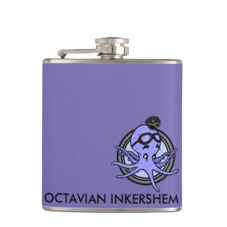 FUNNY VINTAGE CARTOON OCTOPUS FLASK