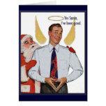 Funny Vintage Christmas Angel Card
