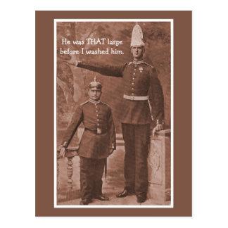 Funny vintage customizable military postcard