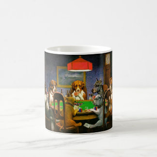 Funny Vintage Dogs Playing Poker Coffee Mug