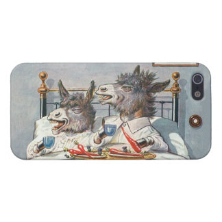 Funny Vintage Donkeys - Anthropomorphic Animals Case For iPhone SE/5/5s