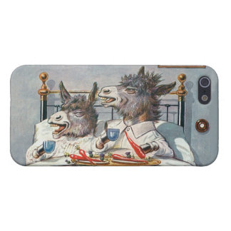 Funny Vintage Donkeys - Anthropomorphic Animals Cases For iPhone 5