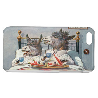 Funny Vintage Donkeys - Anthropomorphic Animals Cover For iPhone 5C