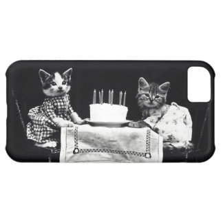 Funny vintage dressed up kitten cat birthday hipst iPhone 5C covers