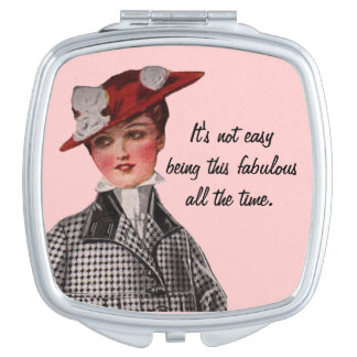 Funny Vintage Fabulous Woman Vanity Mirror