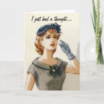 """Funny vintage fashion greeting card<br><div class=""""desc"""">You can customize the message on the front or inside.</div>"""