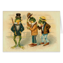 Funny Vintage Frogs