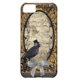 Funny vintage Gothic wedding crow iPhone 5C Case