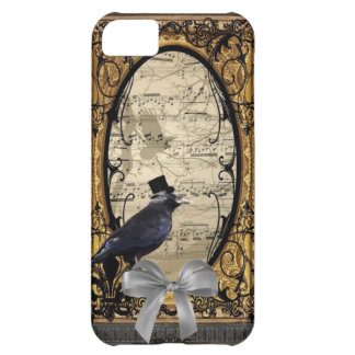 Funny vintage Gothic wedding crow Cover For iPhone 5C