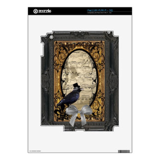 Funny vintage Gothic wedding crow Decals For iPad 2