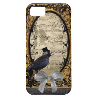 Funny vintage Gothic wedding crow iPhone SE/5/5s Case