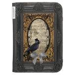 Funny vintage Gothic wedding crow Kindle Case