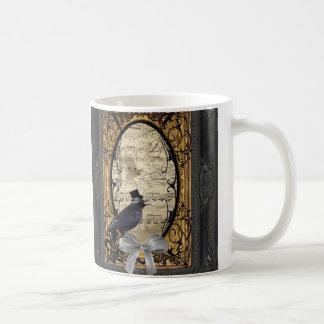 Funny vintage Gothic wedding crow Mugs