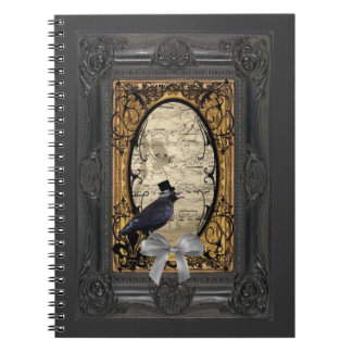 Funny vintage Gothic wedding crow Notebook