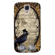 Funny vintage Gothic wedding crow Samsung Galaxy S4 Cover