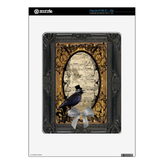 Funny vintage Gothic wedding crow Skin For iPad
