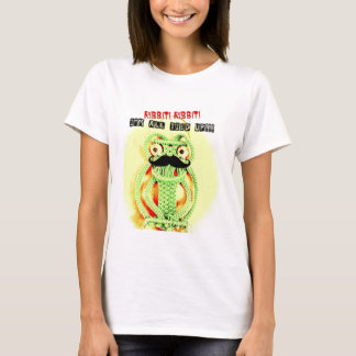 Funny Vintage Green Frog Moustache I'm All Tied Up T-Shirt