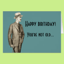 Funny Vintage Happy Birthday Card