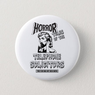 Funny Vintage Horror Movie Button