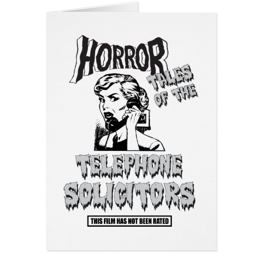 Funny Vintage Horror Movie Greeting Card