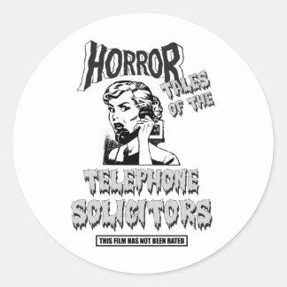 Funny Vintage Horror Movie Classic Round Sticker
