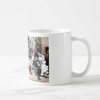 Funny vintage house party coffee mugs