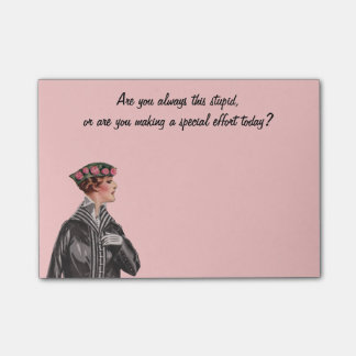 Funny Vintage Insult Post-it® Notes