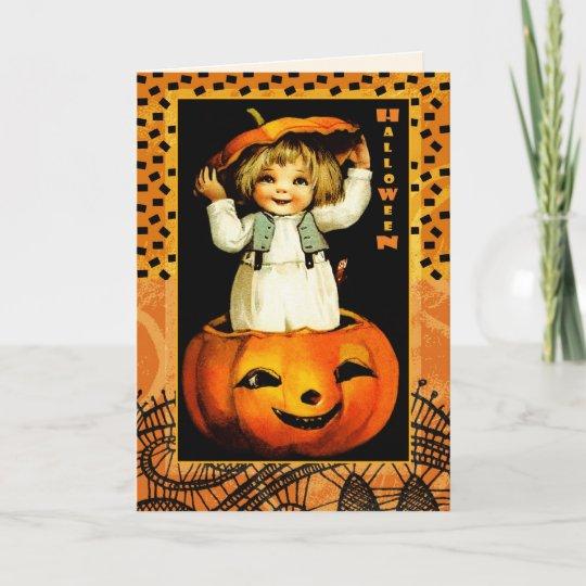 Funny vintage kid halloween greeting cards zazzle funny vintage kid halloween greeting cards m4hsunfo