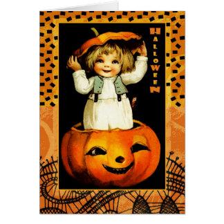 Funny Vintage Kid Halloween Greeting Cards