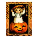 Funny Vintage Kid Halloween Postcards