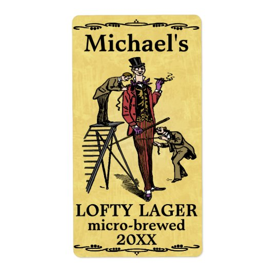 Funny Vintage Lofty Lager Beer Label
