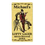 Funny Vintage Lofty Lager Beer Label Shipping Label