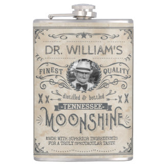 Funny Vintage Moonshine Hillbilly Medicine Custom Hip Flask