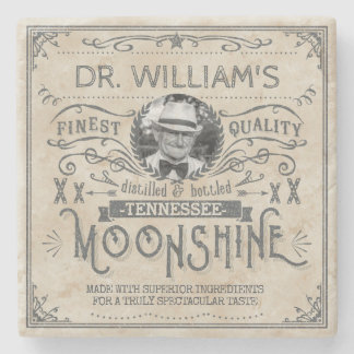 Funny Vintage Moonshine Hillbilly Medicine Custom Stone Coaster