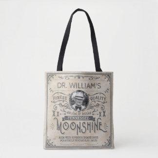 Funny Vintage Moonshine Hillbilly Medicine Custom Tote Bag