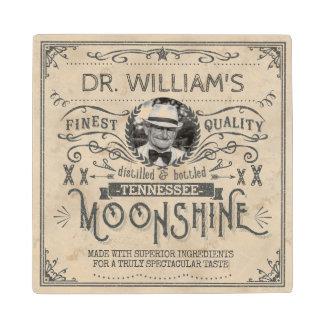 Funny Vintage Moonshine Hillbilly Medicine Custom Wooden Coaster