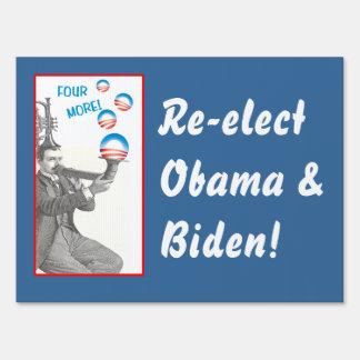 Funny Vintage Musician for Obama Yard Sign