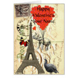 Funny  vintage Paris Valentine's Card