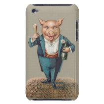 Funny Vintage Partying Pig - Cute Animal Unique iPod Touch Cover
