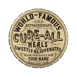 Funny Vintage Personalized Cure All Gag Gift Jelly Belly Candy Tins