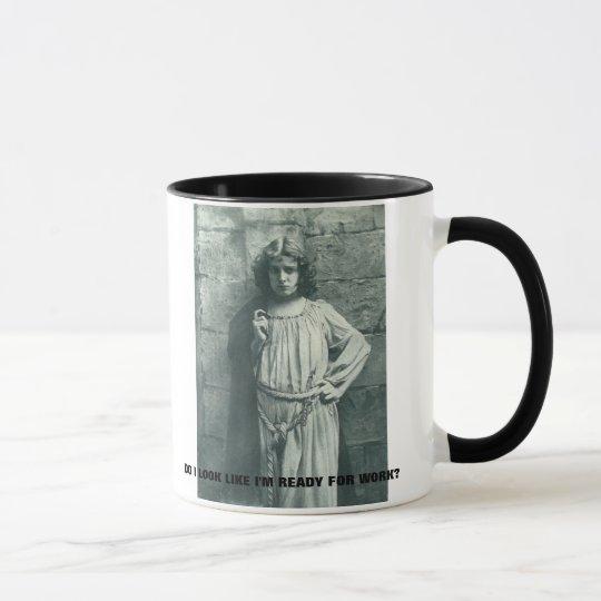 "funny vintage photo ""work"" coffee mug"