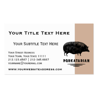 Funny Vintage Pig Bacon Lover Humor Double-Sided Standard Business Cards (Pack Of 100)