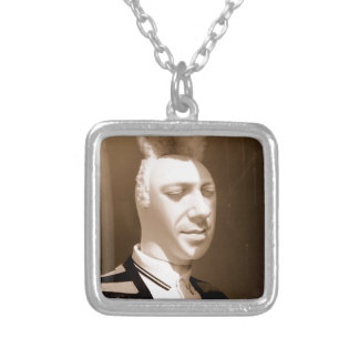 Funny vintage playboy design silver plated necklace