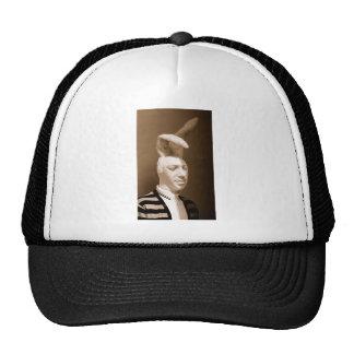 Funny vintage playboy design trucker hat
