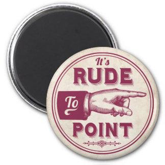 Funny Vintage Pointing Hand Illustration Magnet