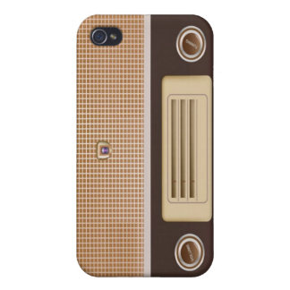 funny vintage radio cover for iPhone 4