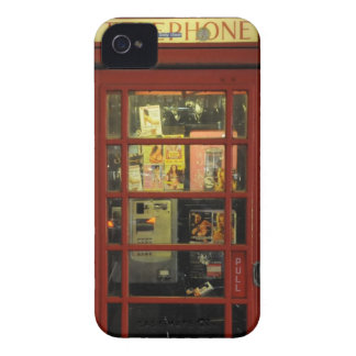 Funny Vintage Red Telephone Box iPhone 4 Case