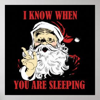 Funny vintage Santa Poster