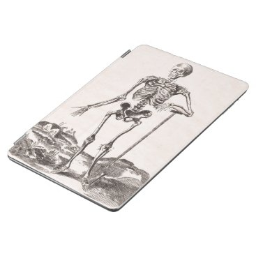 Halloween Themed Funny Vintage Skeleton iPad Pro Cover